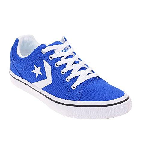 Converse Lifestyle Cons El Distrito Ox Cotton, Scarpe da Fitness Unisex – Adulto Blu (Hyper Royal/White/Black 483)