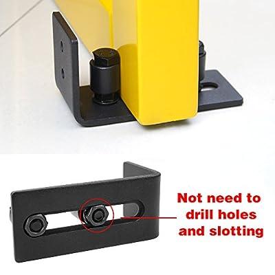 HomeDeco Hardware Multifunctional Sliding Barn Door Hardware Door Doorframe Bottom Floor Guide Adjustable wall Guide Screws