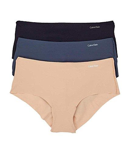 Calvin Klein Invisibles 3-Pack Hipster Black Beige Blue Medium