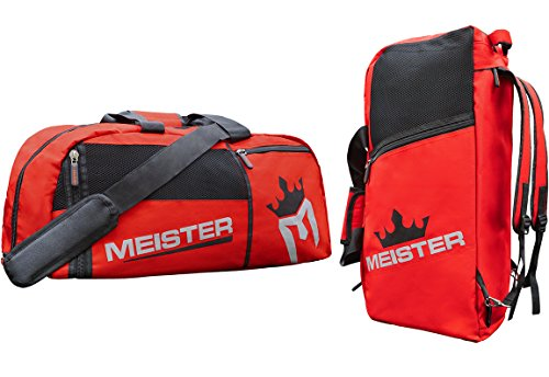 Meister Vented Convertible Duffel/Backpack Gym Bag - Ideal Carry-On - Red