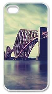 Iphone 4 4s PC Hard Shell Case Forth Bridge Edinburgh Scotland White Skin by Sallylotus