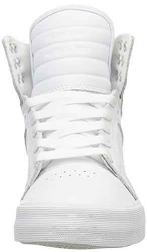 Supra Skytop, Sneakers unisex Bianco (Weiß (White - White Wht))