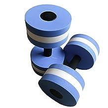Aquatic Exercise Dumbells, 2Pcs Water Foam Dumbbells Aqua Fitness Barbells Exercise Hand Bars for Water Aerobics