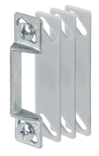 Prime-Line Products K 5009 Screen Door Strike Plate, 1/4-Inch with Shims, Aluminum