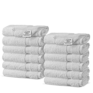Chakir Turkish Linens Turkish Cotton Luxury Hotel & Spa Bath Towel, Wash Cloth - Set of 12, White (B00IOWFCCC) | Amazon price tracker / tracking, Amazon price history charts, Amazon price watches, Amazon price drop alerts