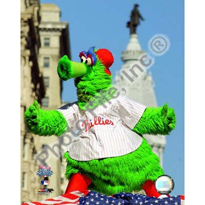 (20x24) The Philly Phanatic 2008 World Series Parade Glossy (Philly Phanatic World Series)
