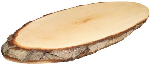 Kaltner Präsente Schneidebrett Holz Erle Rustikales Brotzeitbrett