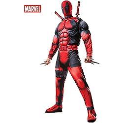 Rubie's Men's Marvel Universe Classic Muscle Chest Deadpool Costume,Multi-Colored,Standard