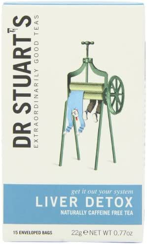 Dr. Stuart's Extraordinarily Good Teas, Liver Detox, 15 Count (Pack of 6)