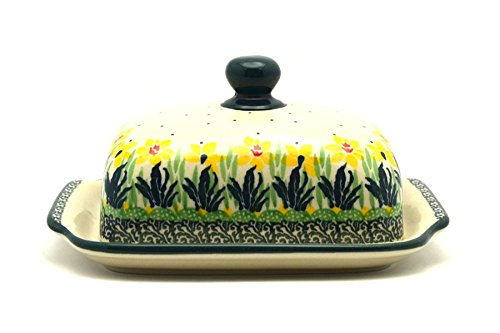 - Polish Pottery Butter Dish - Daffodil