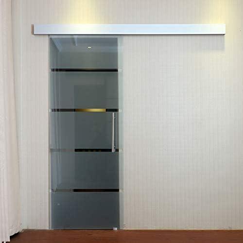 HOMCOM Puerta Corrediza de Vidrio Puerta Corredera Deslizante de Cristal Seguridad 90x205 cm: Amazon.es: Jardín