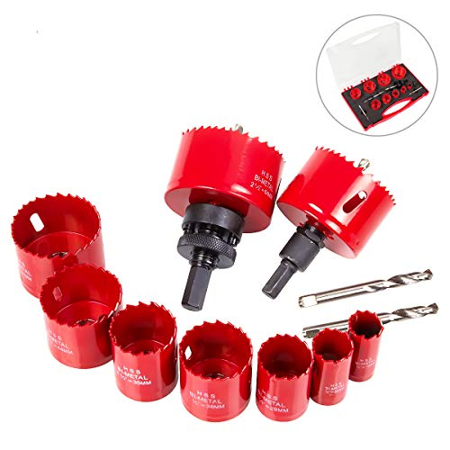 Eliseo 14 Piece Hole Saw Set in Case,3/4