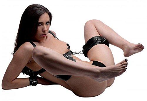 Flutter Cuff (Strict Thigh Sling with Wrist Cuffs Black)