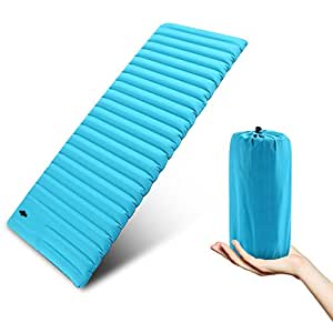 """YUEBO Self Inflating Sleeping Pad, Ultralight Camping Air Mattress for Backpacking, Hiking or Mountaineering, w/ Built-in Pump & Pouch, 77""""x 27.5""""x 3.5"""" (US Stock) (XBL)"""