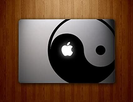Yin yang macbook decal laptop sticker decorative computer accessory electronics vinyl stickers mac book pro skins