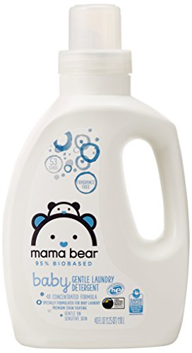 Large Product Image of Amazon Brand - Mama Bear Gentle Baby Laundry Detergent, 95% Biobased, Fragrance Free, 40 Ounce (Pack of 2, 53 Loads Each)