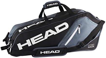 Amazon.com: HEAD Core 6R - bolsa Combi para tenis, negra y ...