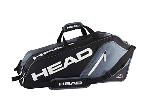 HEAD Core 6R Combi Tennis Racquet Bag - 6 Racket Tennis Equipment Duffle Bag