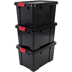 50 X Boîtes Empilables Set Noire Bacs à Bec Empilables Stockage Np4