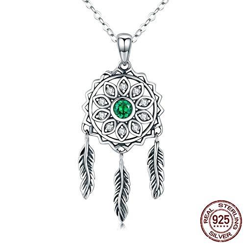 THTHT Sterling Silver Necklace Women Dreamcatcher Simple Style Fashion Idea Temperament Elegant Fine