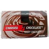 Charged Chocolate 10 Count DARK, Caffeine Infused Energy Bar, Extra Caffeinated Chocolate an Energy Drink Alternative