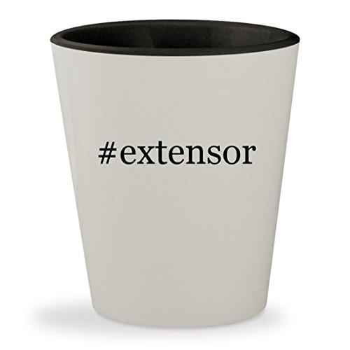 #extensor - Hashtag White Outer & Black Inner Ceramic 1.5oz Shot Glass