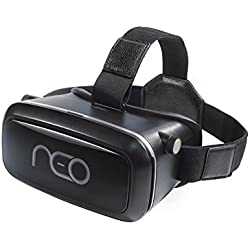 NEO 3D Virtual Reality Headset for Mobile Phones: VR Glasses for iPhone And Android, Movie And Gaming Goggles With Multifocal HD Tech & Large Viewing Field, Adjustable Straps And Comfortable Padding