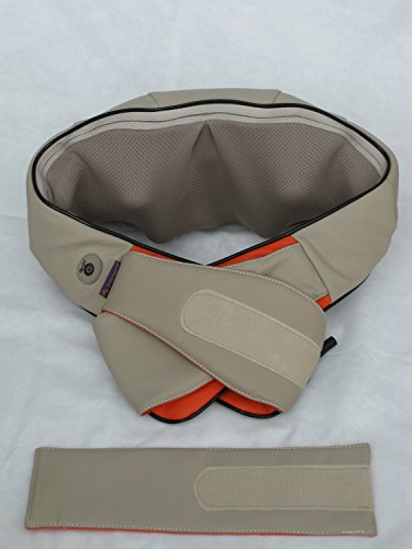 iLIVING Rechargeable Neck and Shoulder Shiatsu Kneading Massager with Heat, Beige