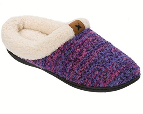 Carafoams Zoccolo Da Donna Con Linguetta E Dettaglio In Rilievo Memory Foam Slipper Purple