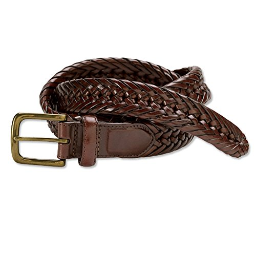 [Orvis Braided Latigo Leather Belt, Brown, 46] (Orvis Braided Belt)