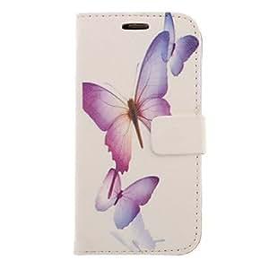 Conseguir Modelo púrpura del dibujo de la mariposa de imitación de cuero cubierta de plástico duro bolsas para Samsung Galaxy S3 I9300