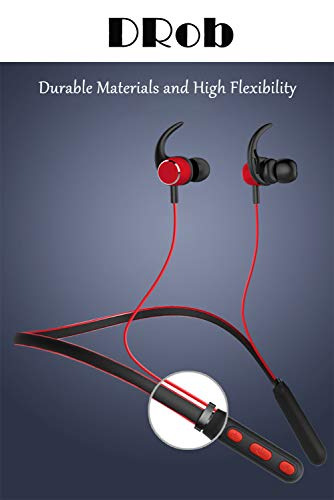 DRob Wireless Bluetooth Headphones Wireless SoundBuds Bluetooth 4.2 High Sports Earphones, Workout Earbuds,Noise Cancellation, Carry Pouch Ergonomic Running Earphones by DRob (Image #5)