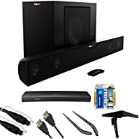 Klipsch Bluetooth Soundbar with Wireless Subwoofer (R-20B) HD Blu-ray Player, 6ft Audio Cable, TV/LCD Screen Cleaning...