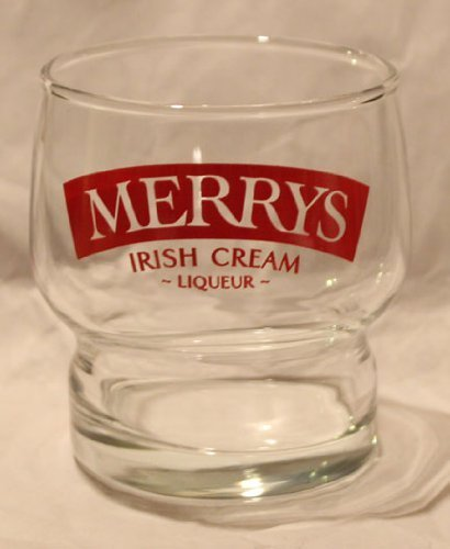 Merrys Irish Cream Liqueur Promotional 6oz Glass
