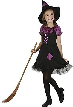 Disfraz de bruja violeta niña 4-6 años (104/116): Amazon.es ...