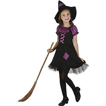 Disfraz de bruja violeta niña 4-6 años (104/116)