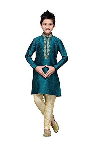Aashima Fab Store Indian Designer Partywear Ethnic Wedding Rama Green Wedding Readymade by Aashima Fab Store