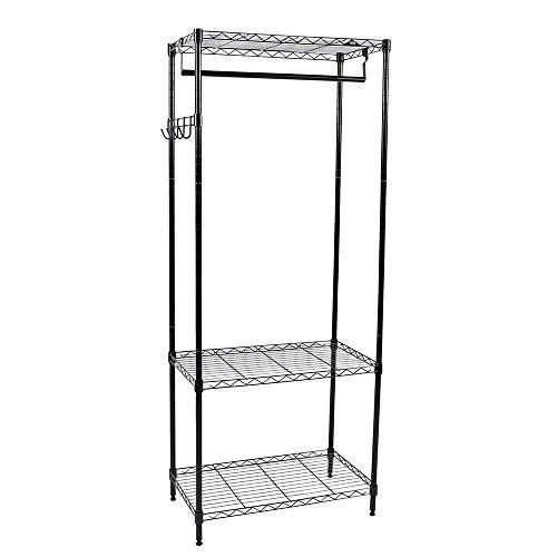 Apollo Hardware 3-Shelf Wire Shelving Garment Rack 14