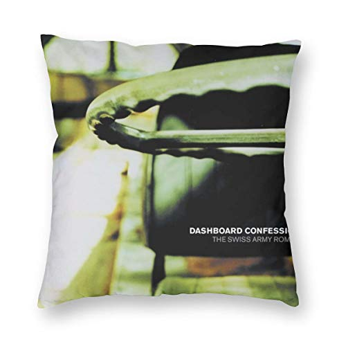 Joyce M Hunter Dashboard Confessional The Swiss Army Romance Music Theme Pillowcase,a Variety of Sizes to Choose from,Home Decor Pillowcase,Cushion Cover,Comfortable and Durable,Square Pillowcase
