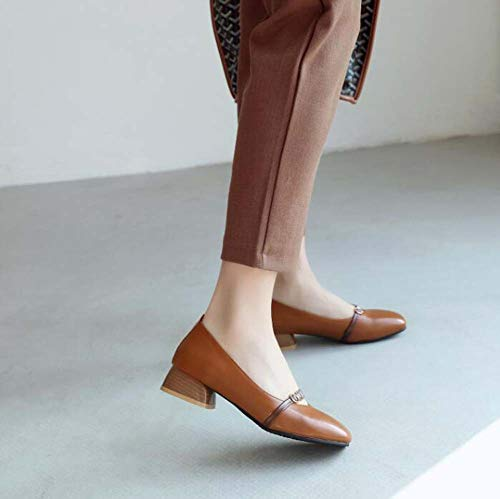 talon Automne Taille Court 2019 Femmes 30 Head Nouveau Printemps Bas Chaussures Confortable 46 Et Glter Brown Square 8q7fOwnwp