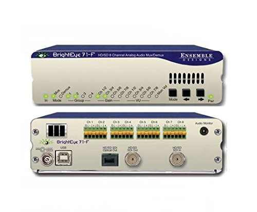 Ensemble Designs BE71-F BrightEye 71 HD/SD Analog Audio Embedder/Disembedder to Optical (Transmitter) by Ensemble Designs