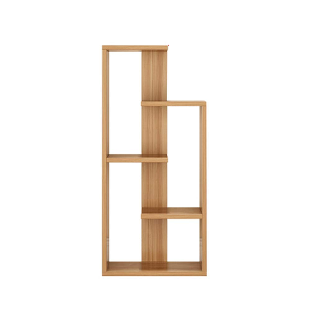 Bookshelf Xiaomei, Multi-Layer Storage Shelf On The Floor, Simple Children's Student Storage Rack (Color : Light Walnut, Size : 1204824cm) by Bookshelf