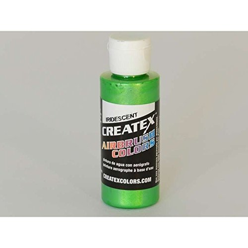 Createx Iridescent Green, Airbrush Paint, 2 oz (Green Airbrush Paint)