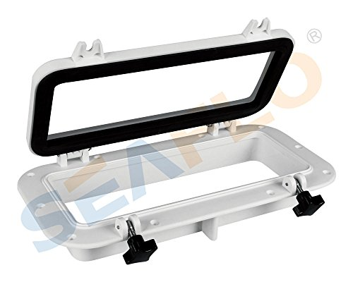 Amarine-made-Boat-Yacht-Rectangle-Opening-Portlight-Porthole-16-X-8-Replacement-Window-Port-Hole-ABS-White-Tempered-Glass