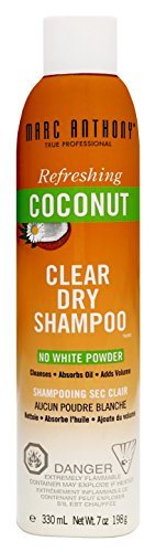 Marc Anthony Coconut Oil Clear Dry Shampoo 7 Ounce (207ml) (3 Pack)
