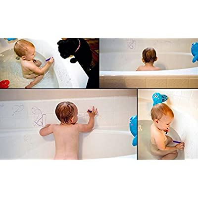 Bathbuddy Bath Crayons ~ Set of 6 Magic Crayon for Kids – Easy Cleanup Toy: Toys & Games