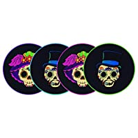 By Mexico Portavasos PVC Modelo Catrines Negro colores set de 4