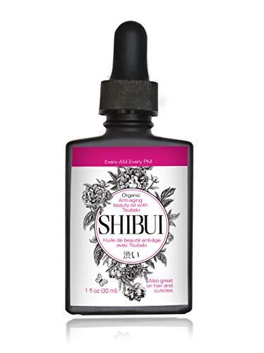 Shibui Anti Aging Face Oil: Moisturizing Facial Serum with Apricot Kernel, Jojoba, Rosehip Seed, Tsubaki, Vitamin E Oils & More for Treating Dry Skin, Wrinkles & Dark Spots - Vegan & Organic, 1 fl oz