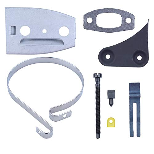 Band Plate Service (Haishine Bar Plate Brake Band Muffler Bracket Gasket Tensioner Service for Husqvarna 50 51 55 Rancher Chainsaw Replacement Parts)