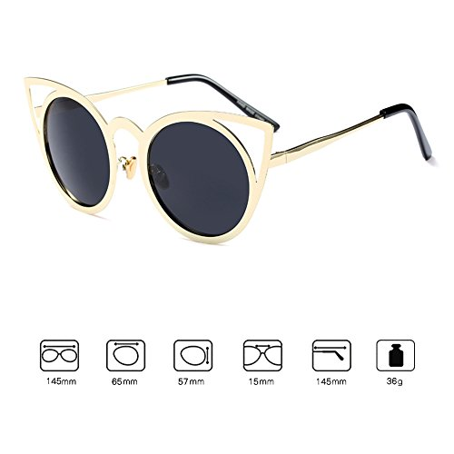 Mujer Cat Sunglasses Juleya Eye Mujeres Eyewear Cateye Espejo UV400 C9 Fashion Vintage p40wO